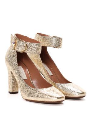 L' Autre Chose: court shoes online - Crumpled leather pumps