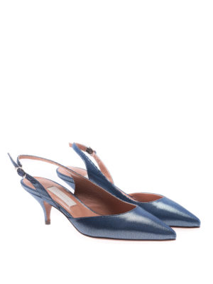 L' Autre Chose: court shoes online - Grosgrain slingback pumps