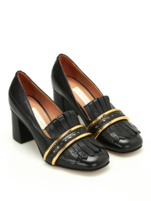 L' Autre Chose: court shoes online - Loafer style leather pumps