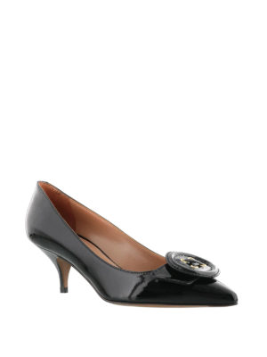L' Autre Chose: court shoes online - Patent leather kitten heel pumps