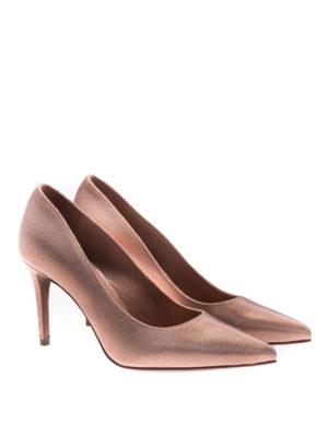 L' Autre Chose: court shoes online - Peach tone canneté pumps