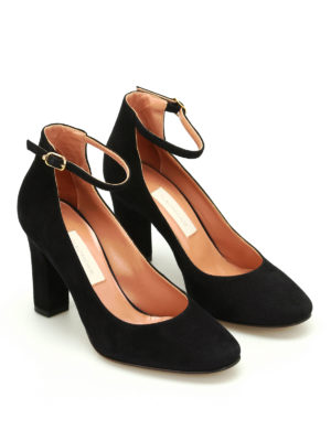 L' Autre Chose: court shoes online - Suede mary jane pumps