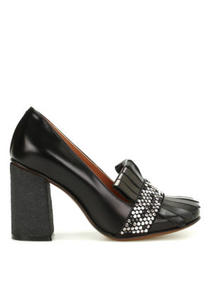 L' Autre Chose: court shoes - Para heeled leather pumps