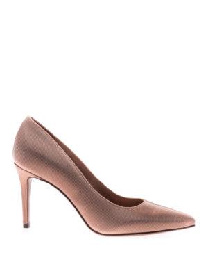 L' Autre Chose: court shoes - Peach tone canneté pumps