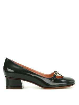 L' Autre Chose: court shoes - Polished leather court shoes