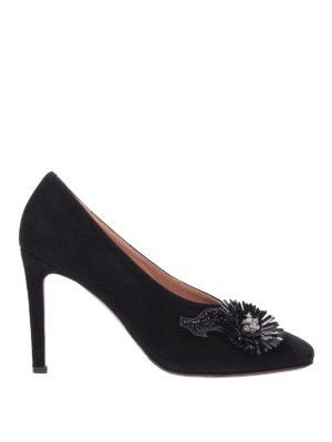 L' AUTRE CHOSE: scarpe décolleté - Décolleté in pelle scamosciata con patch