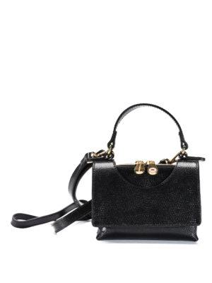 L' Autre Chose: cross body bags - Circle leather mini bag