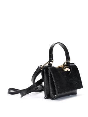 L' Autre Chose: cross body bags online - Circle leather mini bag