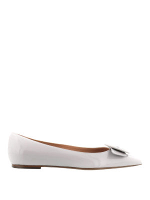 L' Autre Chose: flat shoes - Button detail pointy ballerinas