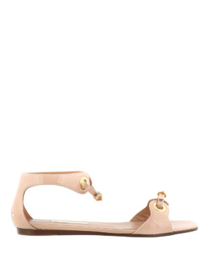 L' Autre Chose: flat shoes - Eyelets and straps flat sandals
