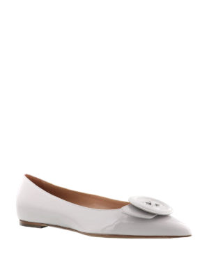 L' Autre Chose: flat shoes online - Button detail pointy ballerinas