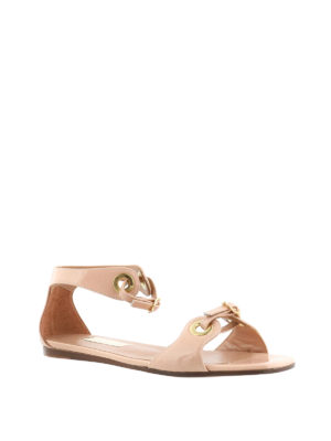 L' Autre Chose: flat shoes online - Eyelets and straps flat sandals