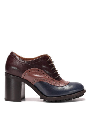 L' Autre Chose: lace-ups shoes - Brogue leather heel lace-ups