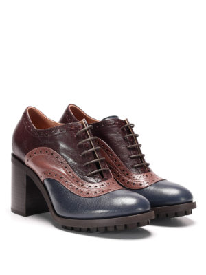 L' Autre Chose: lace-ups shoes online - Brogue leather heel lace-ups