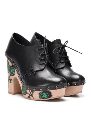L' Autre Chose: lace-ups shoes online - Painted heel lace-ups