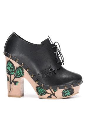 L' Autre Chose: lace-ups shoes - Painted heel lace-ups