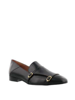 L' Autre Chose: Loafers & Slippers online - Double buckle leather loafers