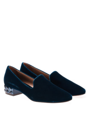 L' Autre Chose: Loafers & Slippers online - Velvet slippers