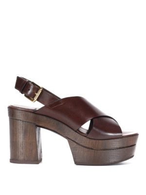 L' Autre Chose: mules shoes - Wood heel mules sandals