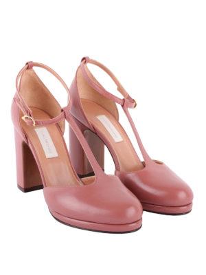 L' AUTRE CHOSE: scarpe décolleté online - Décolleté in pelle rosa con cinturino a T