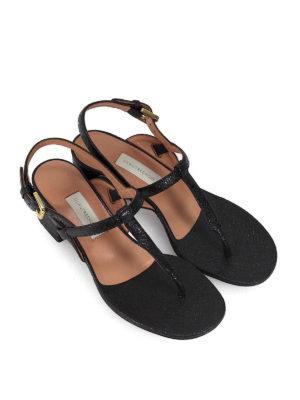 L' AUTRE CHOSE: sandali online - Sandali infradito pelle craquelé