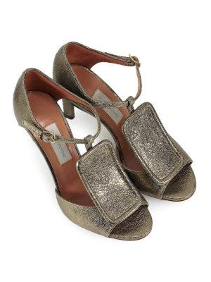 L' AUTRE CHOSE: sandali online - Sandali alti in craquelé dorato