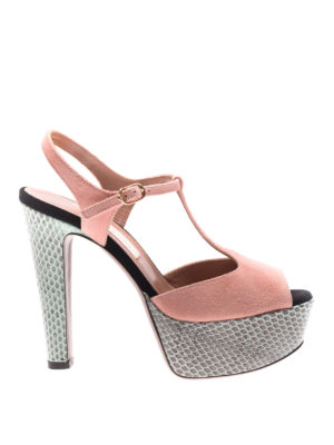 L' Autre Chose: sandals - Ayers and suede peep-toe sandals