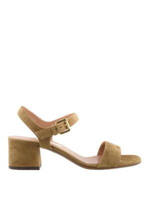 L' Autre Chose: sandals - Camel suede slingback sandals