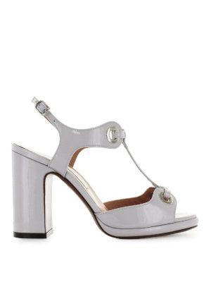 L' AUTRE CHOSE: sandali - Sandali in vernice con occhielli