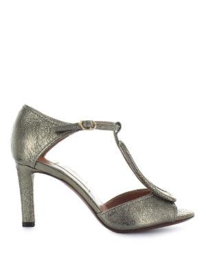 L' AUTRE CHOSE: sandali - Sandali alti in craquelé dorato