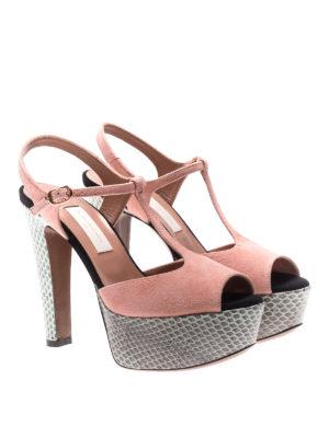 L' Autre Chose: sandals online - Ayers and suede peep-toe sandals