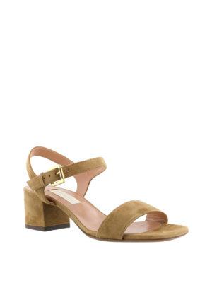 L' Autre Chose: sandals online - Camel suede slingback sandals