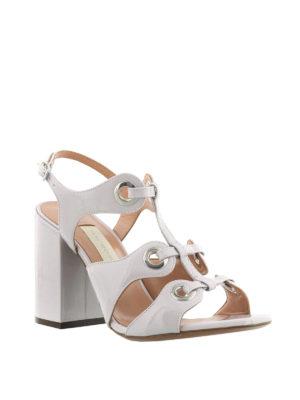 L' Autre Chose: sandals online - Eyelets detail multi strap sandals