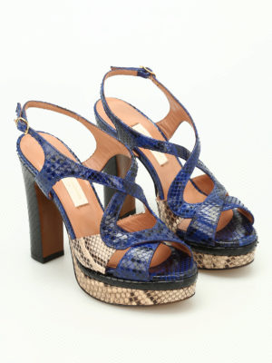 L' Autre Chose: sandals online - Python leather colourful sandals