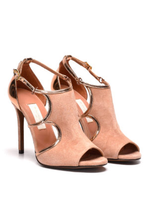 L' Autre Chose: sandals online - Suede and lamé d'orsay shoes