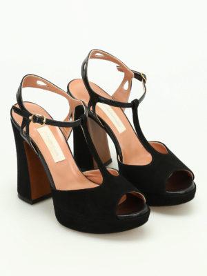 L' Autre Chose: sandals online - Suede platform sandals