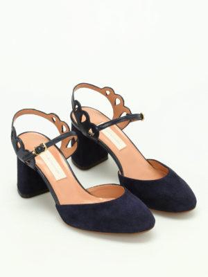 L' Autre Chose: sandals online - Suede slingback sandals