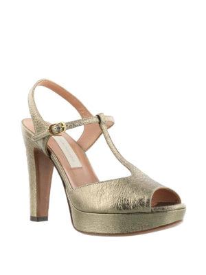 L' Autre Chose: sandals online - T-strap platform leather sandals