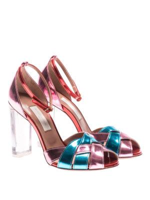 L' Autre Chose: sandals online - Tricolour mirror leather sandals