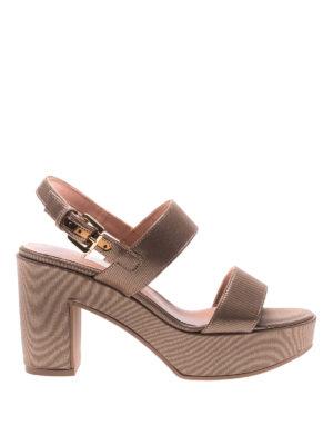L' Autre Chose: sandals - Shining ribbed platform sandals