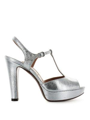 L' AUTRE CHOSE: sandali - Sandali in pelle craquelé argento
