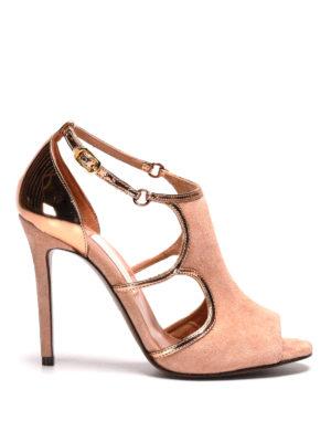 L' Autre Chose: sandals - Suede and lamé d'orsay shoes