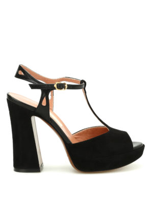 L' Autre Chose: sandals - Suede platform sandals