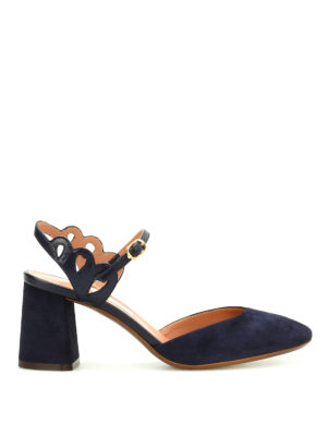 L' Autre Chose: sandals - Suede slingback sandals