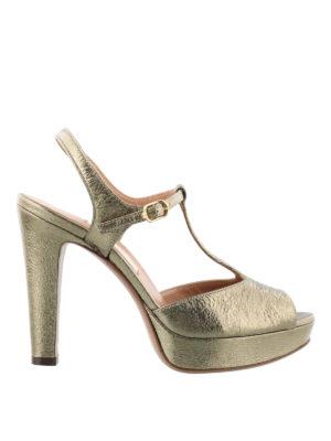 L' Autre Chose: sandals - T-strap platform leather sandals