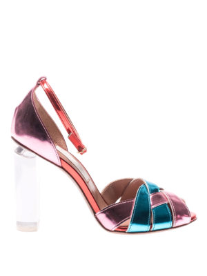 L' Autre Chose: sandals - Tricolour mirror leather sandals