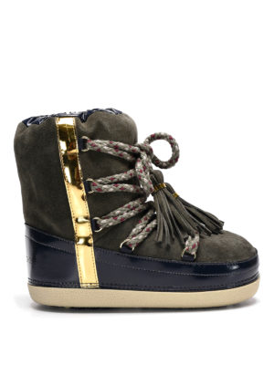 L' Autre Chose: snow boots - Tassels detail suede snow boots
