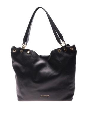 L' Autre Chose: totes bags - Black leather tote