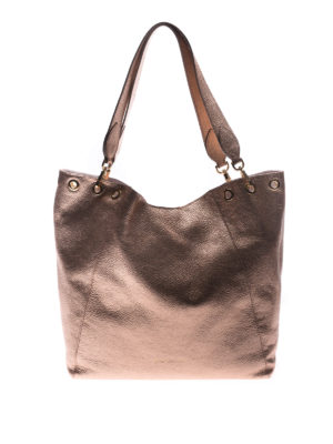 L' Autre Chose: totes bags - Laminated leather tote