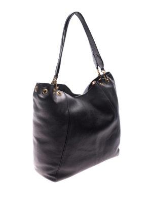 L' Autre Chose: totes bags online - Black leather tote